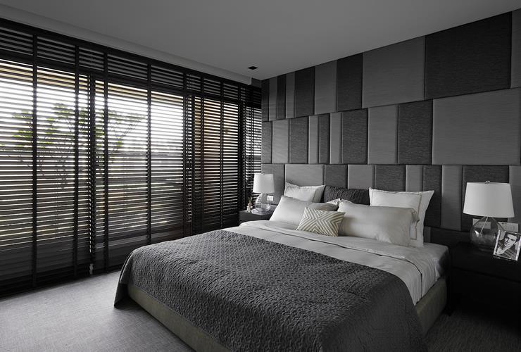黑色現代時尚臥室裝修圖