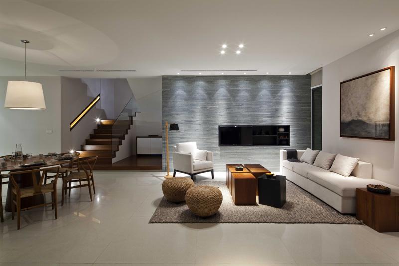 簡潔大方簡約別墅客廳裝修圖