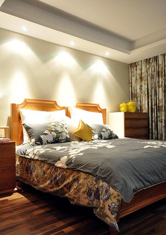 中式現代裝修臥室筒燈設計