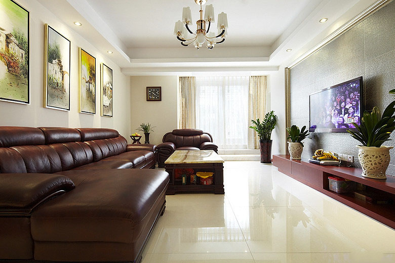 時尚現代客廳整體裝修效果圖