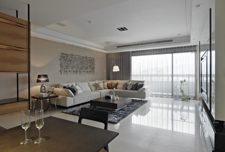 美式風格公寓客廳裝修效果圖