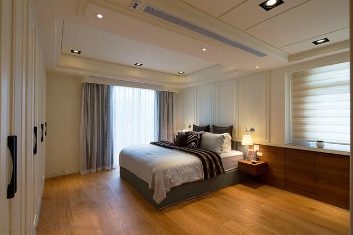 20平米现代卧室吊顶设计装修图_装修百科