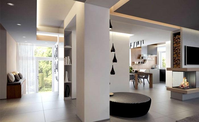 装修百科 装修效果图 装修美图 现代欧式家装隔断设计 现代欧式家装