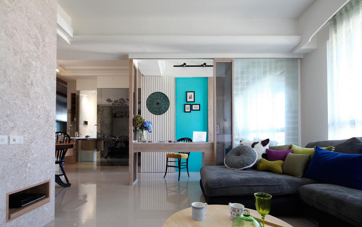 美式风格三室一厅室内效果图