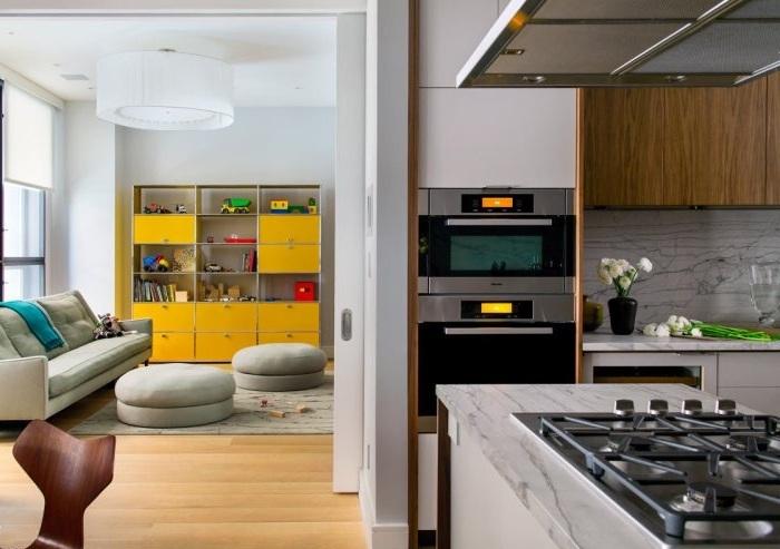 時尚現代廚房客廳隔斷效果圖_裝修百科