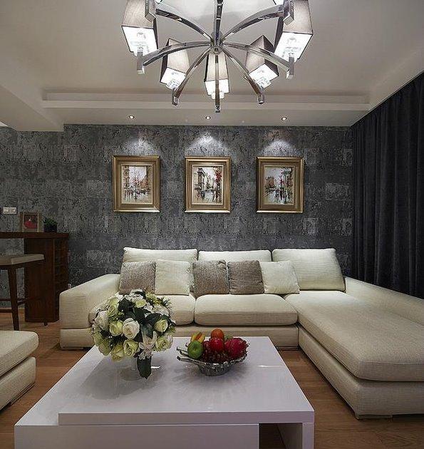 70平现代两室两厅家装效果图