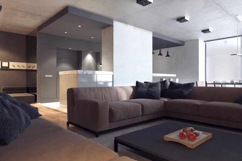 时尚沉稳黑色系现代工业风混搭别墅设计