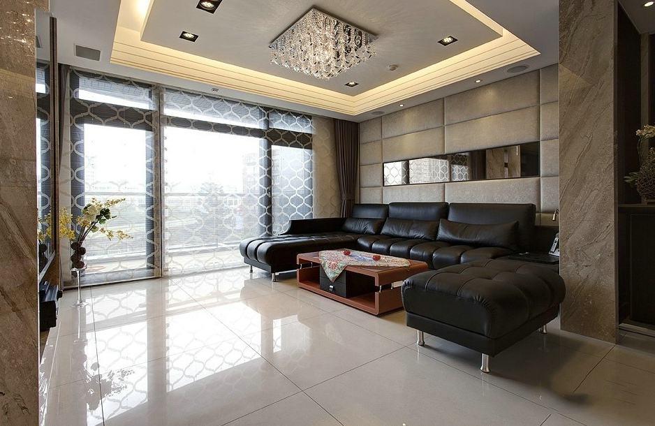 家装客厅简约设计窗帘隔断效果图_装修百科