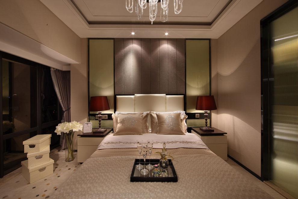 家裝現代臥室美式裝飾風格樣板房欣賞
