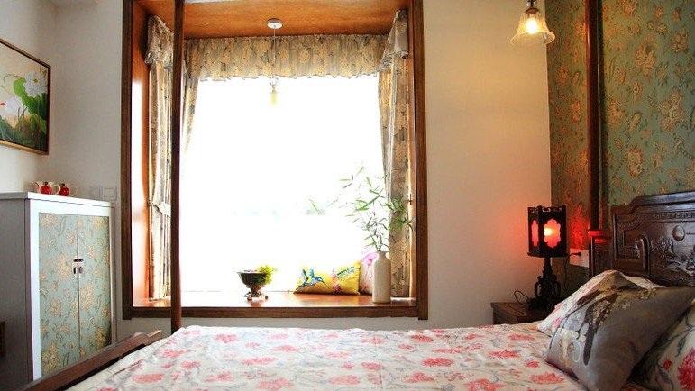 清新中式田园风卧室飘窗装饰设计