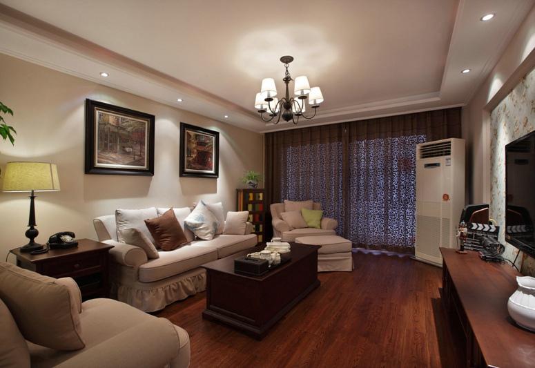 现代美式三室两厅装修效果图