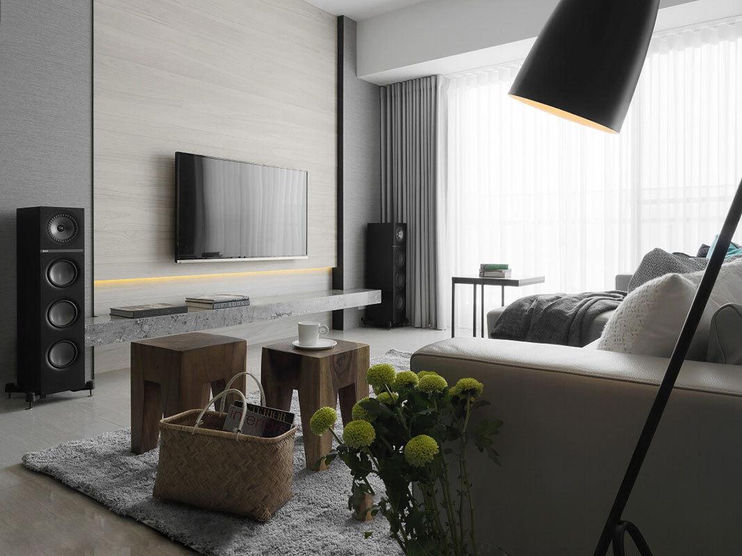 灰色系現代 客廳電視背景墻設計