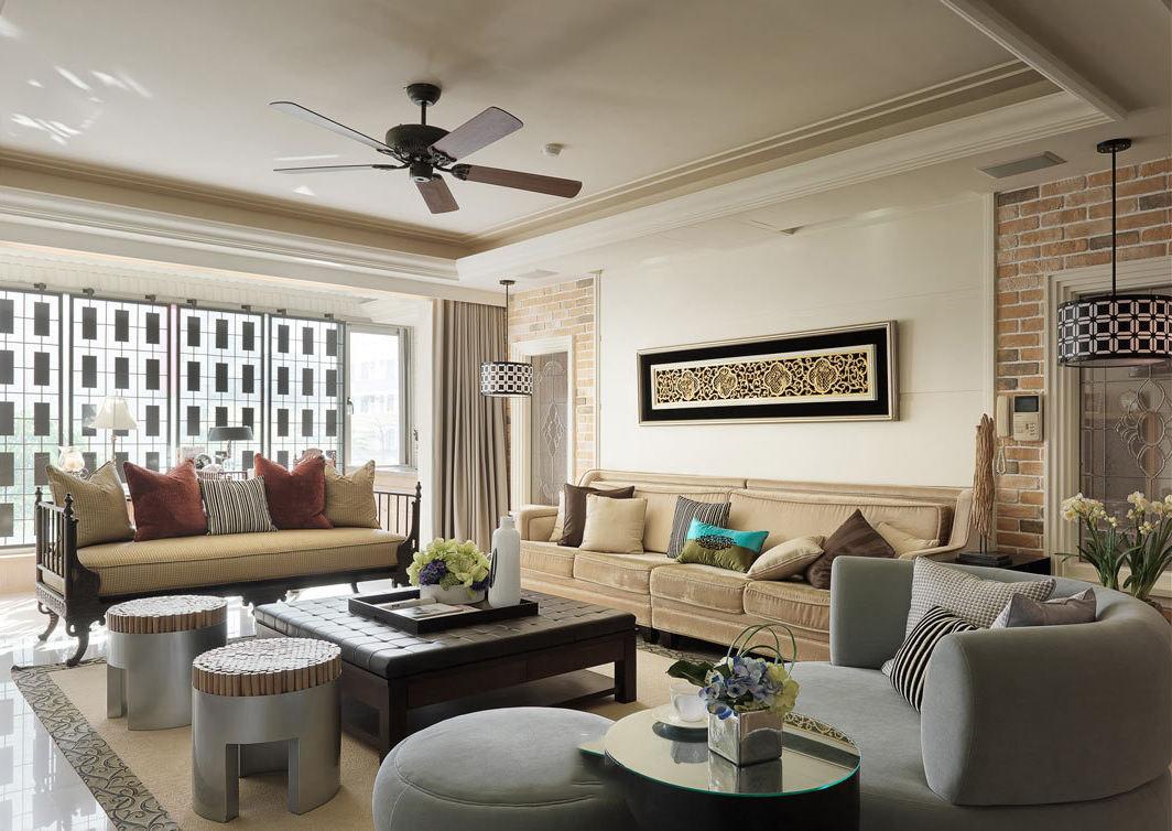公寓客廳新古典風格裝修圖