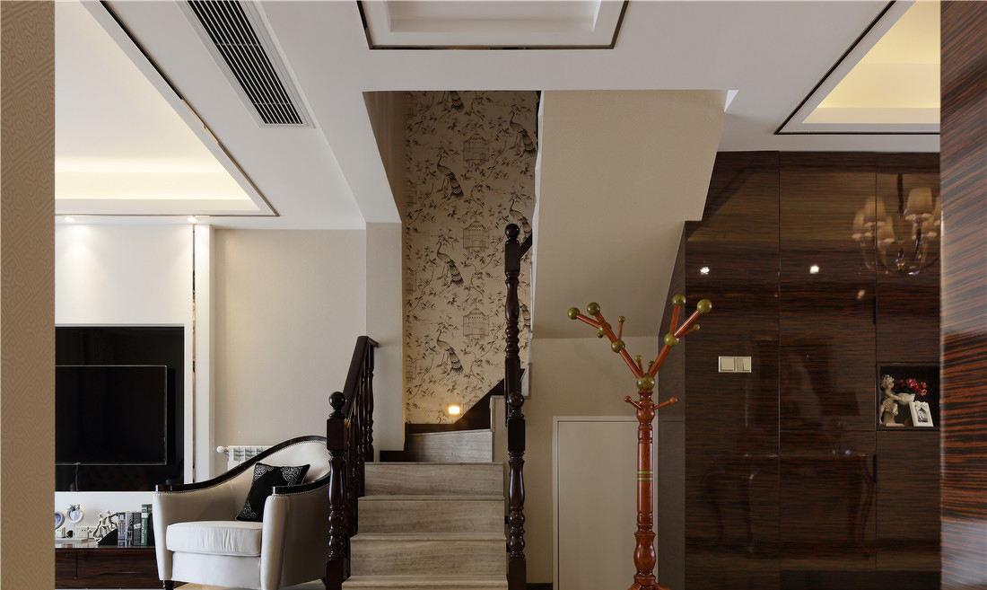 现代别墅室内楼梯护栏设计_装修百科
