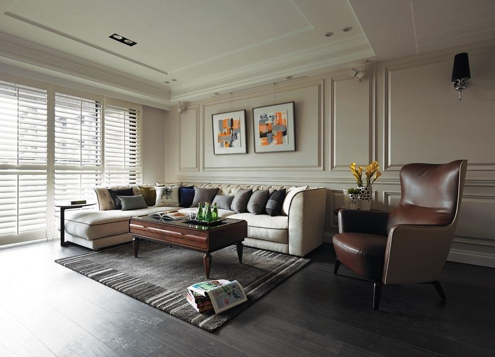 装修效果图 装修美图 美式风格客厅沙发背景墙设计