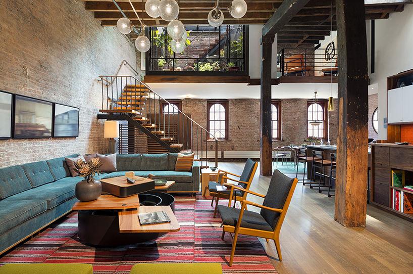 原始混搭工业风loft公寓室内设计装修效果图_装修百科