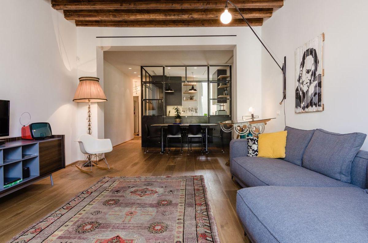 时尚北欧混搭小户型一居室装修案例图