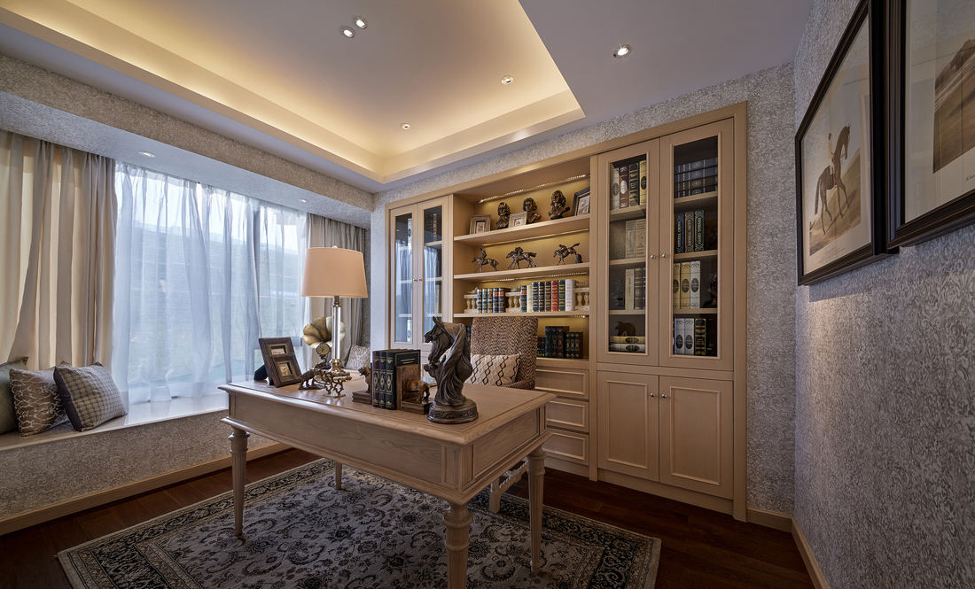 新古典書房設計裝修欣賞圖