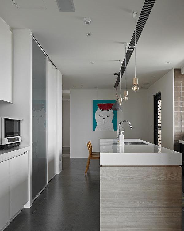 簡約廚房設計吧臺裝修圖