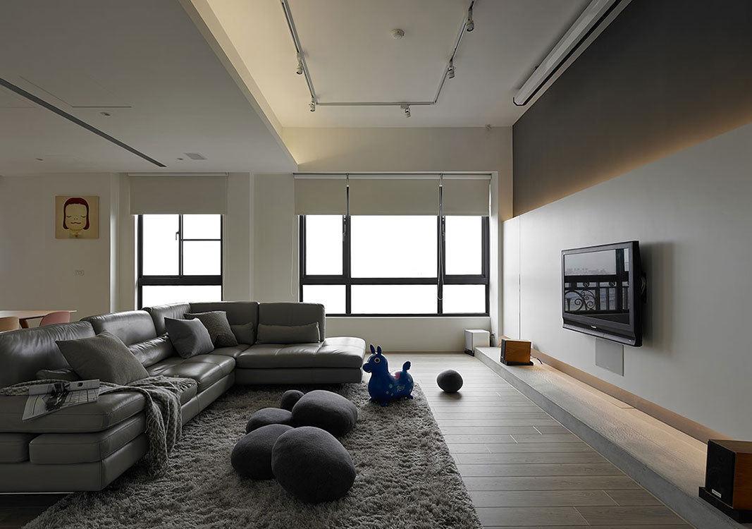 装修百科 装修效果图 装修美图 极简现代一居室客厅装潢图 极简现代一