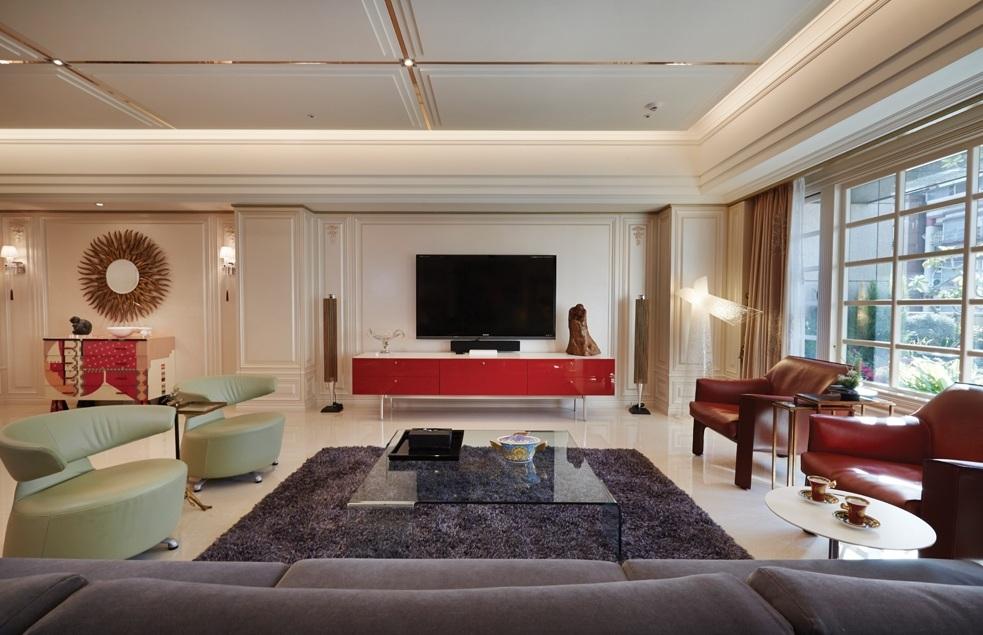 新古典裝修風格客廳效果圖