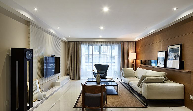 简约现代装修设计两室两厅效果图