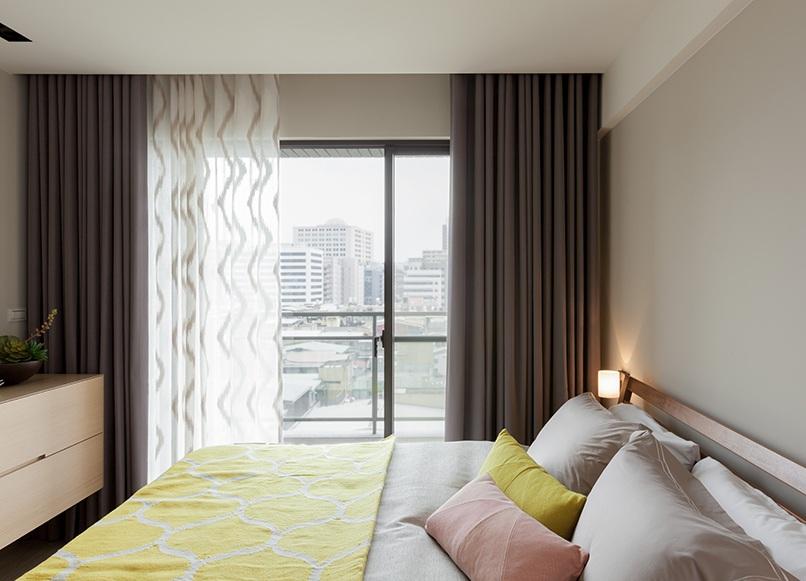 简约设计装修卧室窗帘效果图