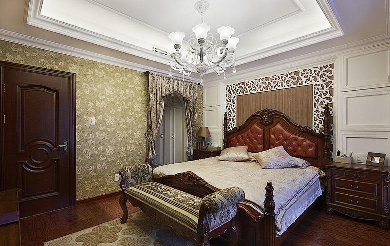 古典欧式风格卧室窗帘隔断设计装修图_装修百科