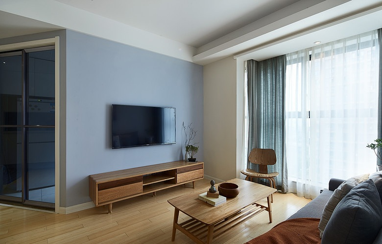 簡約日式風格客廳裝修效果圖