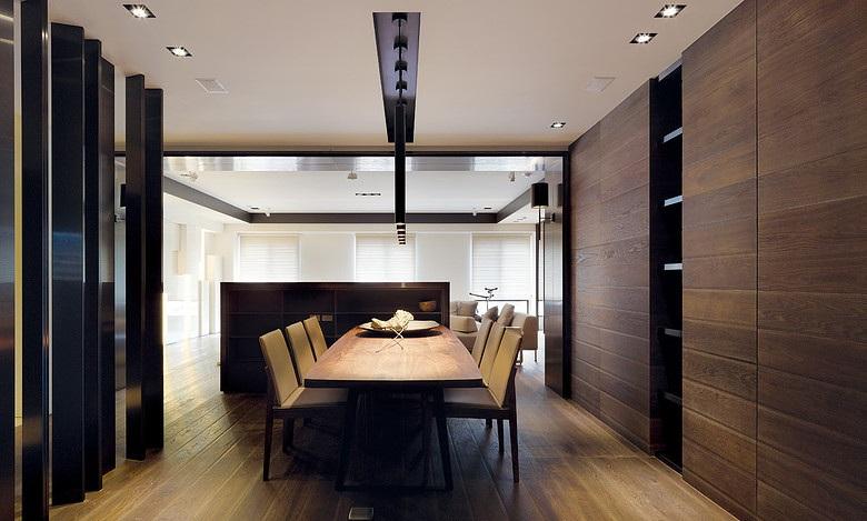 实木现代风格餐厅效果图