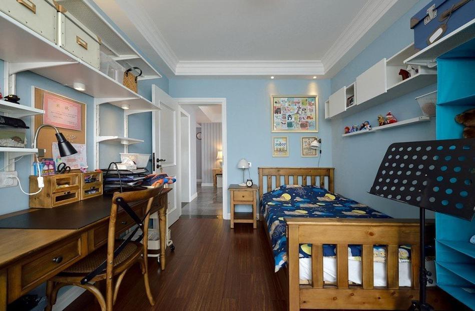 清新混搭美式儿童房装饰效果图