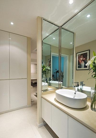 装修效果图 装修美图 时尚清新简约洗手间隔断设计