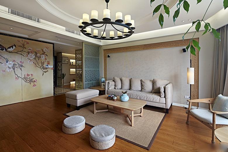 风韵素雅中式客厅设计装修效果图_装修百科图片
