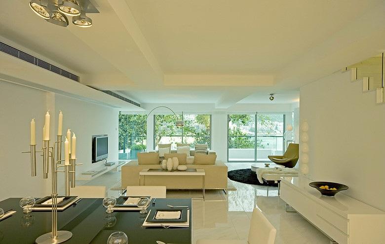 148平米大三居客廳簡約設計現代裝修設計圖