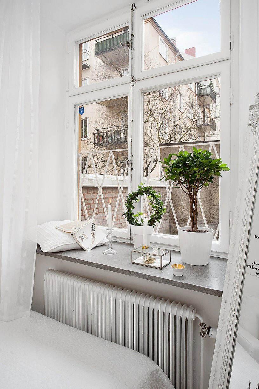 极简北欧装修风格家居窗户窗台设计装饰图_装修百科