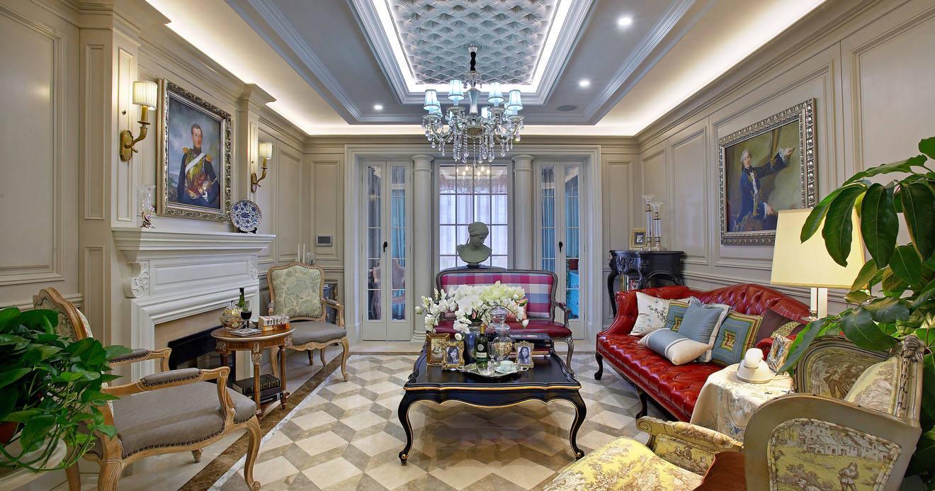 138平奢华唯美精致欧式田园风三室两厅装修效果图