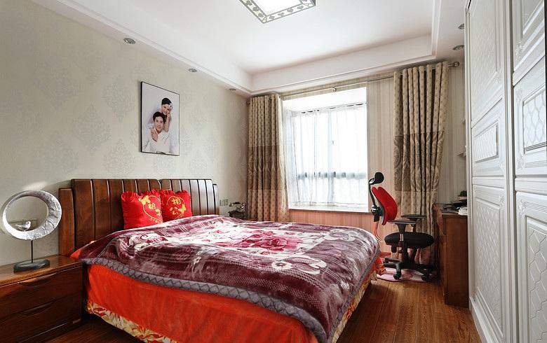 古樸中式臥室婚房布置裝潢圖