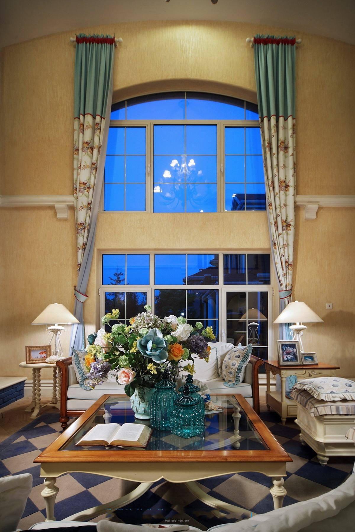 地中海风格别墅客厅窗户设计图_装修百科