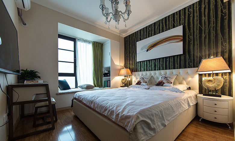 现代简约装饰风格卧室飘窗设计图片