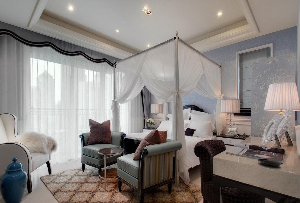 新古典裝飾風格臥室軟裝裝飾欣賞圖