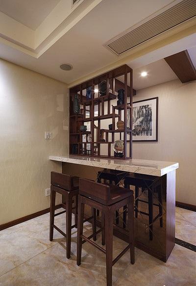 装修效果图 装修美图 中式装修风格家居吧台红木椅配置图