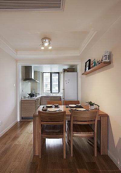 原木簡約裝修一居室餐廳效果圖