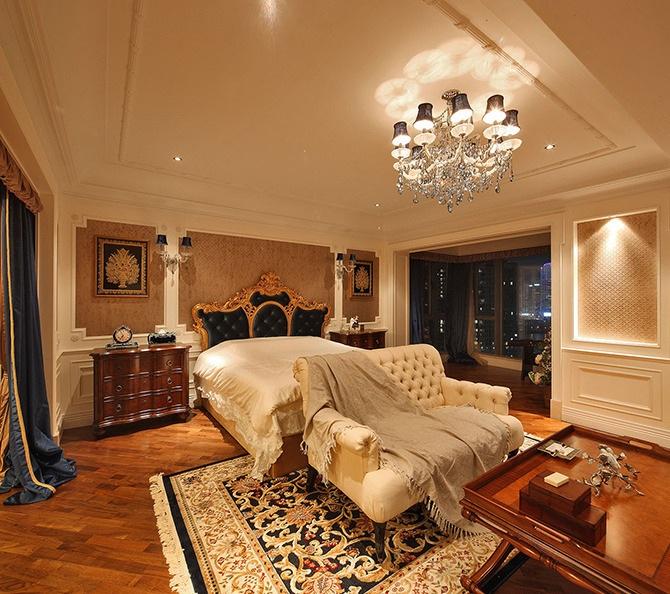 复古豪华欧式风格别墅卧室设计装修样板间欣赏_装修百科