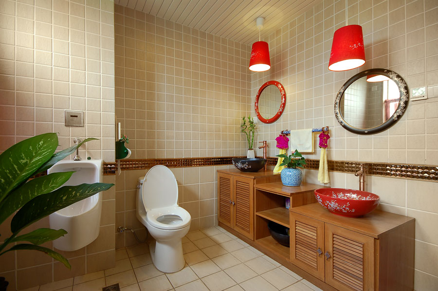 現代中式衛生間設計裝修欣賞圖