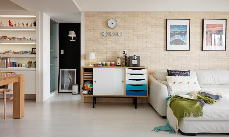 50平簡約清新宜家小戶型室內設計裝修圖片