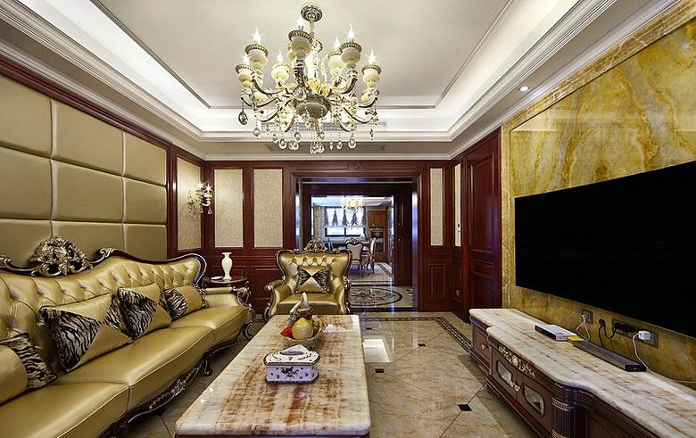 豪华欧式装修风格三室两厅设计装潢图