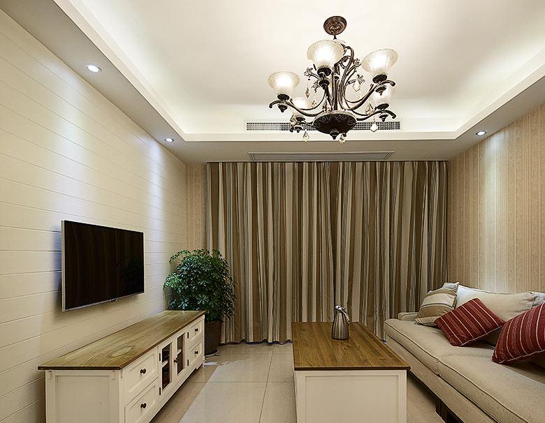 簡約裝修風格小戶型客廳裝潢案例圖