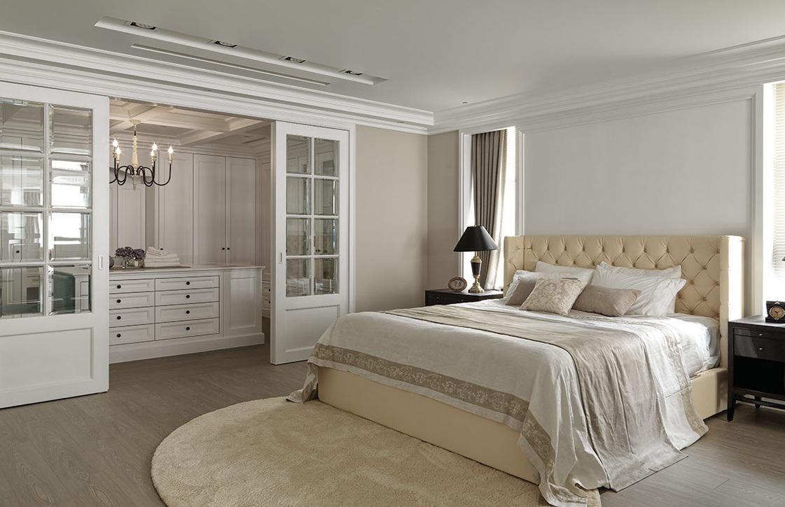 装修百科 装修效果图 装修美图 欧式风格三居卧室隔断设计装修图 欧式