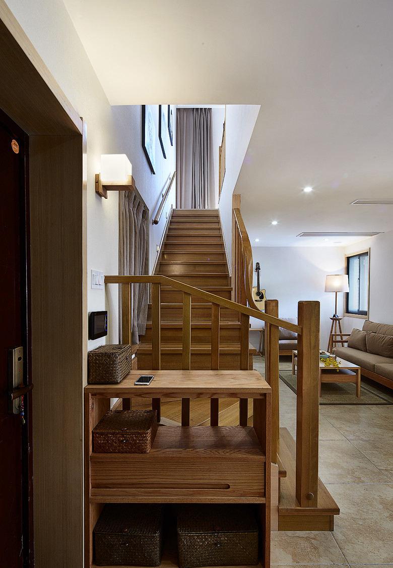 简约设计复式实木楼梯装饰图-您正在访问第50页,2017地中海风格楼