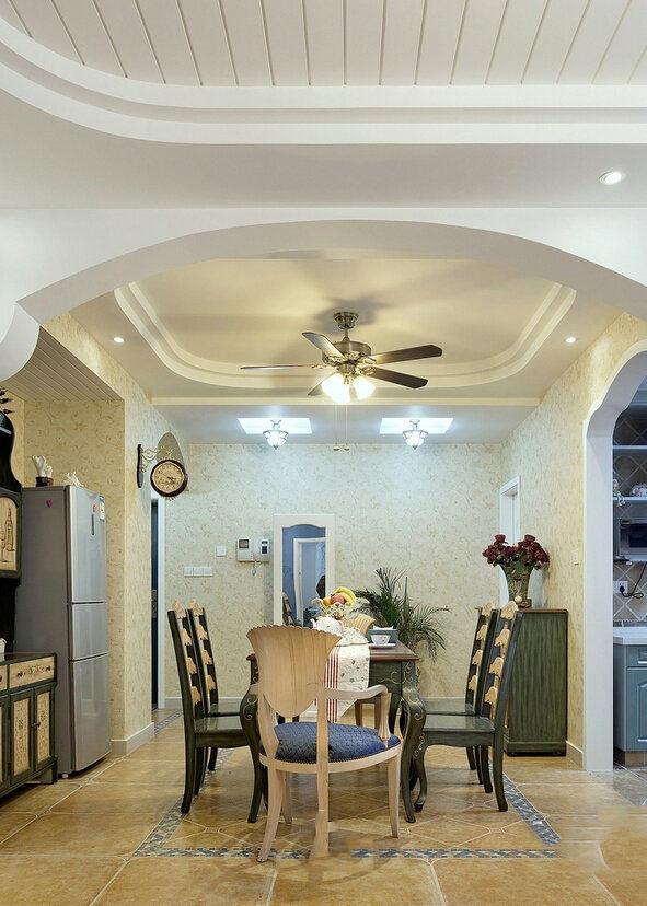 地中海风格三居餐厅设计装修效果图